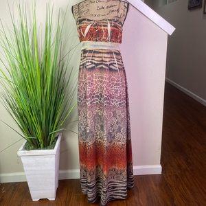 american rag, maxi dress, animal print